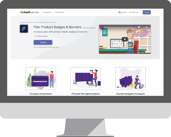 Flair Product Badges & Banners