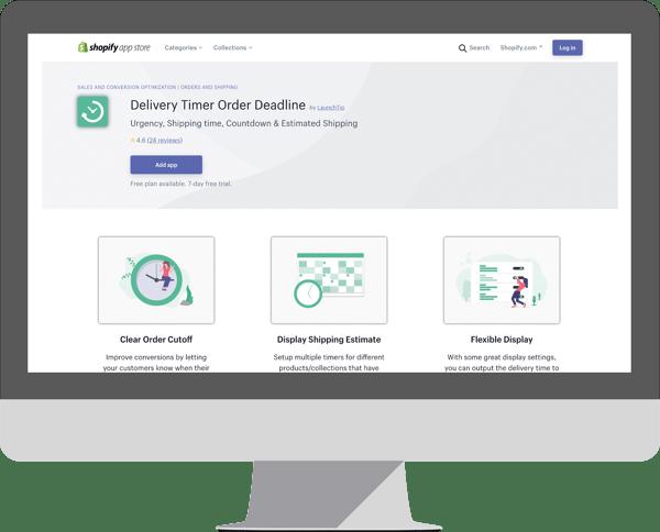Delivery Timer Order Deadline